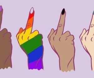drawings, equal, and middle finger image