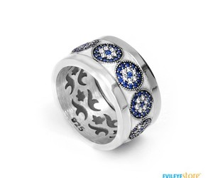 silver ring, evil eye jewelry, and evil eye silver image