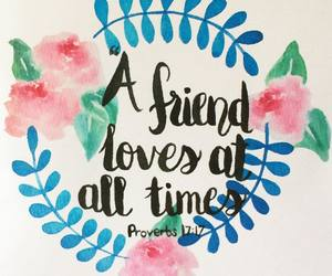 flower wreath, friendship, and hand lettering image