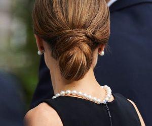 bun, chignon, and dress image