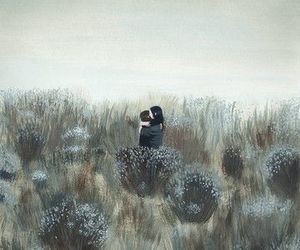art, hug, and kiss image
