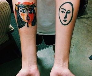 art, tattoo, and face image