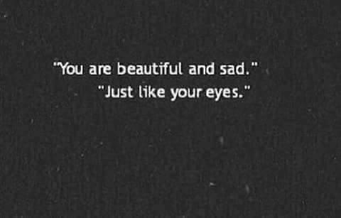 sad, beautiful, and eyes image