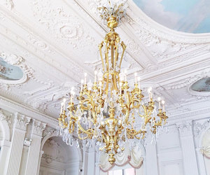 boutique, chandelier, and french image
