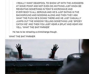 Avengers, deadpool, and funny image