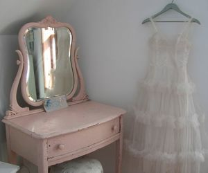 pink, dress, and pale image