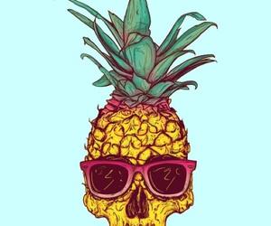 pineapple, skull, and summer image