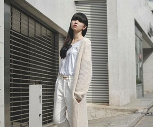 bangs, fashion, and long sleeve image