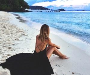 beach, dress, and summer image