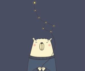 art, stars, and bear image