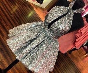 dress, luxury, and glitter image