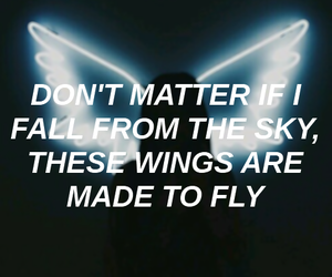 aesthetic, wings, and lyrics quotes image