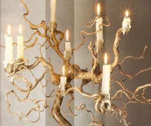 antique, candles, and chandelier image