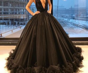 dress, black, and luxury image