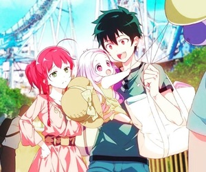 anime, couple, and the devil is a part timer image