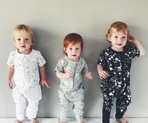 baby, triplets, and boy image