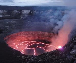 nature, grunge, and volcano image