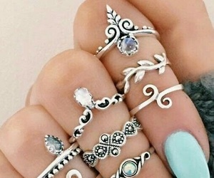 bohemian, light blue, and nails image