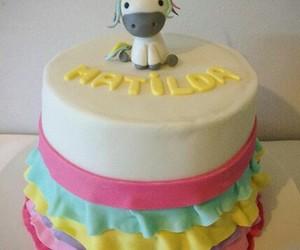 cake, colores, and reposteria image