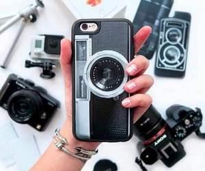 black, camera, and case image