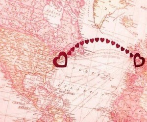 love, distance, and heart image