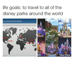 disney, goals, and travel image