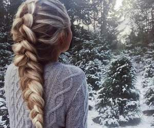 winter, girl, and hair image