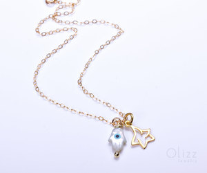 etsy, lucky star, and star jewelry image