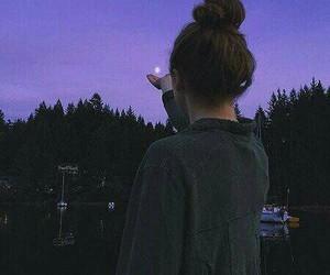 girl, grunge, and purple image