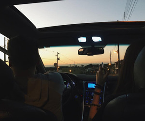car, drive, and couples image