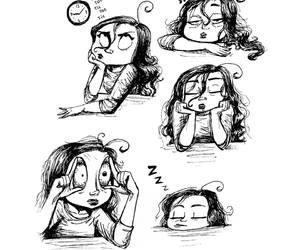 funny, drawing, and sleep image