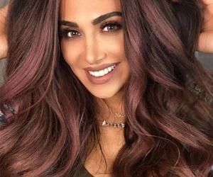 hair and chocolate mauve image