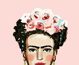 frida kahlo, art, and pink image