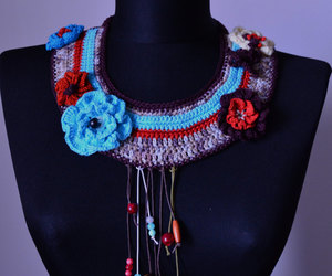 etsy, giftforher, and knit necklace image
