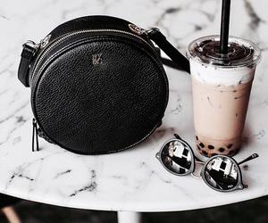 drink, black, and bag image