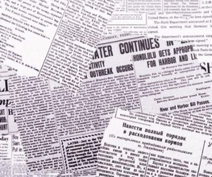 newspaper and wallpaper image
