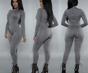 grey, fashion, and jumpsuit image