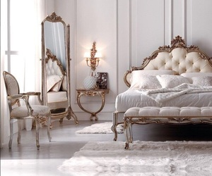 bedroom, luxury, and white image