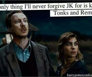 harry potter, remus lupin, and tonks image