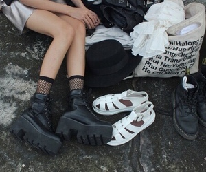 grunge, black, and shoes image