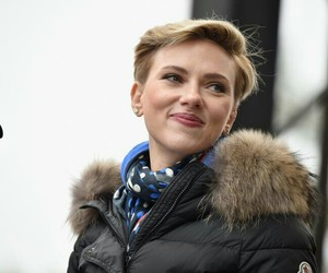 celebrities, Scarlett Johansson, and woman march image