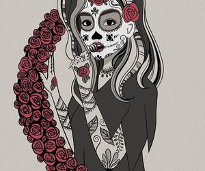 arte, belleza, and catrina image