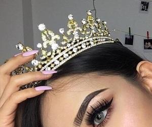 beauty, girl, and eyebrows image