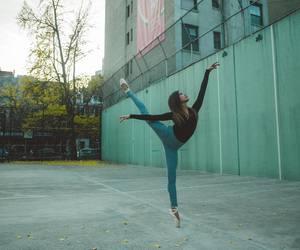 arabesque, autumn, and ballerina image