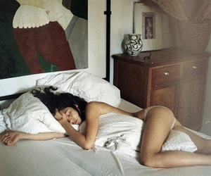 bed, girl, and Nude image