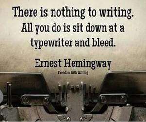 typewriter and writer image