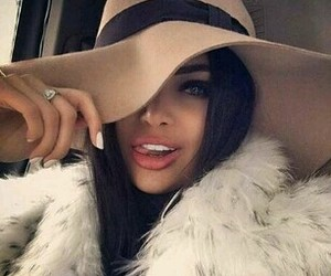 girl, beauty, and hat image