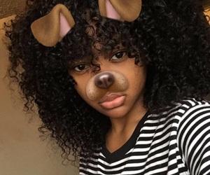 curls, melanin, and snapchat image