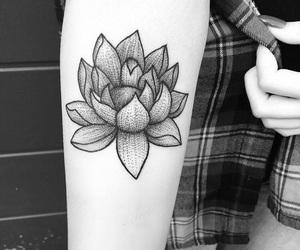 blackandwhite, inked, and Tattoos image