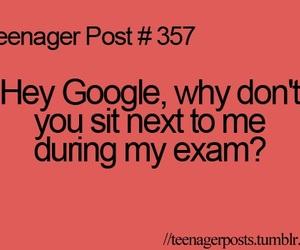 teenager post, google, and exam image